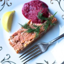 Salmon Terrine with Beet Horseradish
