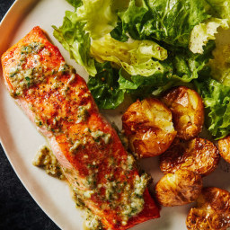 Salmon with Caper-Anchovy Butter