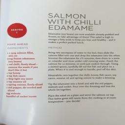 Salmon With Chili Edamame