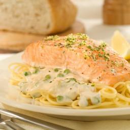Salmon with Creamy Alfredo Sauce