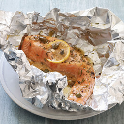 Salmon with Lemon, Capers and Rosemary