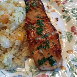 Salmon with Lime Cilantro Butter