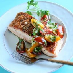 Salmon with Salsa Cruda