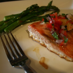 Salmon with Sweet and Spicy Salsa