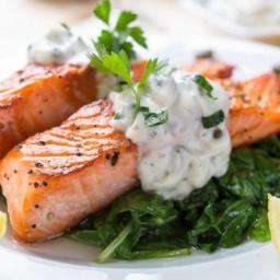 Salmon with Tarragon Cream