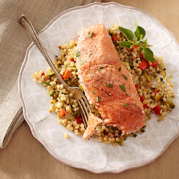 Salmon with Toasted Israeli Couscous