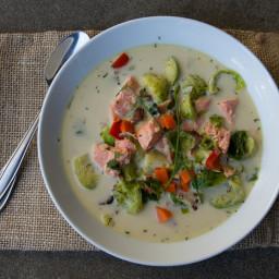 Salmon and Veggie Chowder
