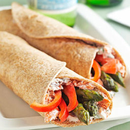 Salmon & Asparagus Wraps