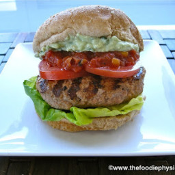 Salsa Turkey Burgers with Avocado Crema