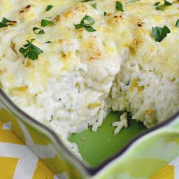 Salsa Verde Chicken and Rice Casserole
