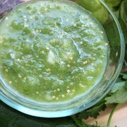 salsa verde de tomatillo