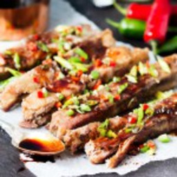 Salt and Pepper Ribs with Chilli Honey Drizzle