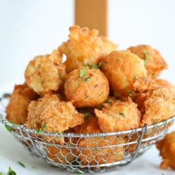 Salt fish fritters