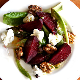 Salt Roasted Beets with Goat Cheese and Toasted Walnuts