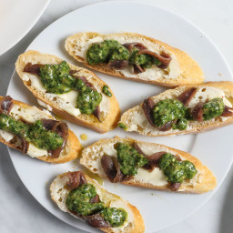 Salted Anchovies, Salsa Verde, Bread, Butter