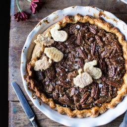 Salted Bourbon Pecan Pumpkin Pie