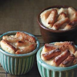 Salted Caramel Banana Bread Puddings Recipe
