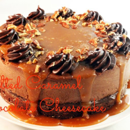 Salted Caramel Chocolate Cheesecake