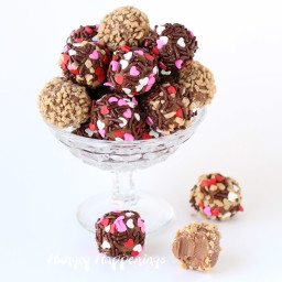Salted Caramel Chocolate Truffles made with Ice Cream
