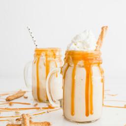 Salted Caramel Pretzel Milkshake