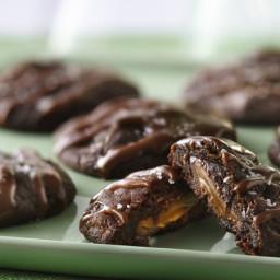 Salted Caramel-Stuffed Chocolate Truffle Cookies