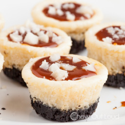 Salted Caramel White Chocolate Cheesecake Bites
