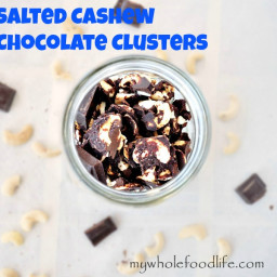 Salted Cashew Chocolate Clusters