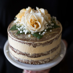 Salted Honey and Orange Blossom Naked Cake