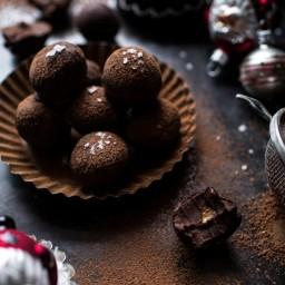 Salted Peanut Butter Caramel Chocolate Truffles.