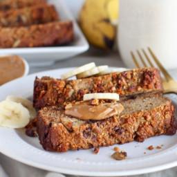 Salted Peanut Chocolate Banana Bread