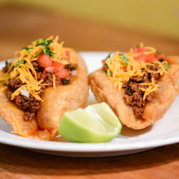 San Antonio-Style Puffy Tacos With Ground Beef Filling Recipe