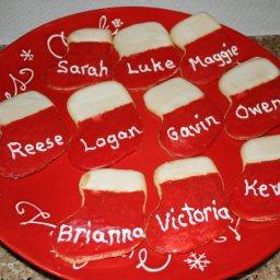 Christmas Stocking Cookies