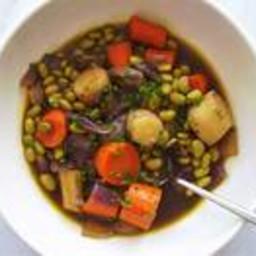 Saucy Braised Root Vegetable Entrée