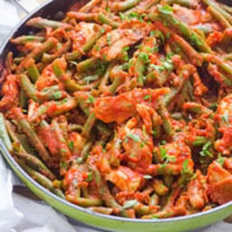 Saucy Green Beans and Chicken