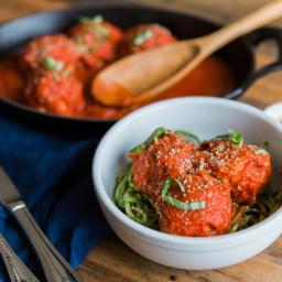 Saucy paleo meatballs