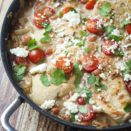 Saucy Mexican Chicken Skillet