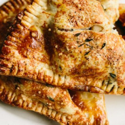 Sausage and Apple Pie in a Parmesan Thyme Crust Recipe