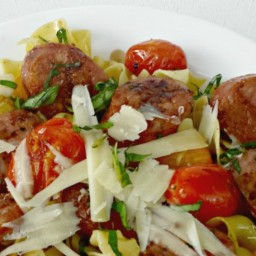 Sausage and Blistered Tomato Pasta