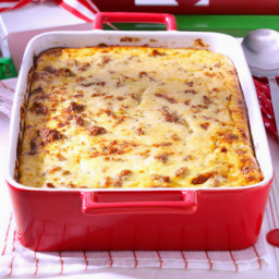 Sausage and Cheese Grits Breakfast Casserole