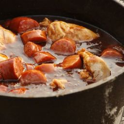 Sausage and Chicken in Dutch Oven