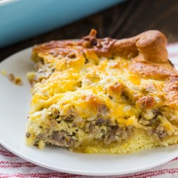Sausage and Crescent Roll Casserole