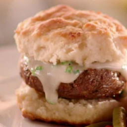 Sausage and Gravy Biscuit Sandwiches