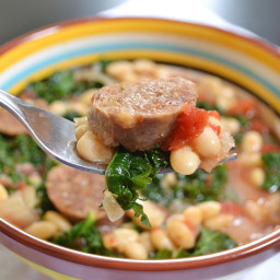 sausage and kale cassoulet