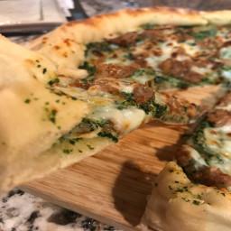 sausage-and-kale-pesto-pizza-with-blistered-tomato-arugula-salad-d5315e136508c175ae53dbe6.jpg
