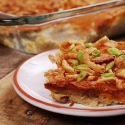 Sausage and Mashed Potato Casserole