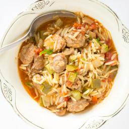Sausage and Orzo Soup