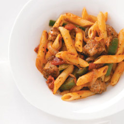 Sausage and Penne Marinara Recipe