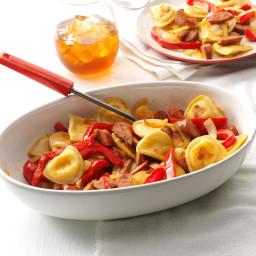Sausage and Pepper Pierogi Skillet Recipe