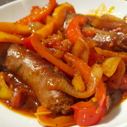 Sausage and Peppers (with tomato)