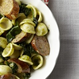 Sausage and Pesto Orecchiette